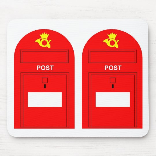 The Red Postbox Mouse Pad