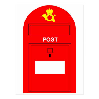 The Red Postbox Post Card