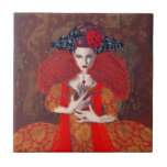 The Red Queen. Ceramic Tile