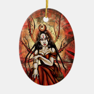 """The Red Queen"" Mab Faery Oval Ornament"