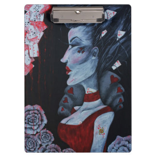The Red Queen Original Art Wonderland Clipboard