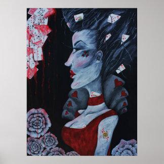 The Red Queen Original Art Wonderland Poster