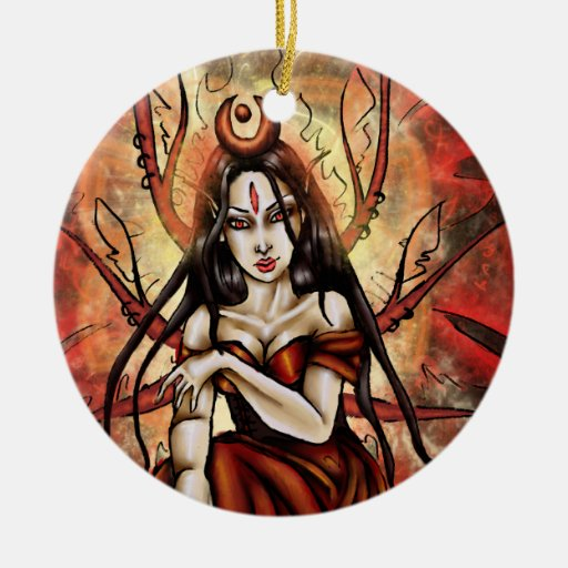 The Red Queen Round Ornament