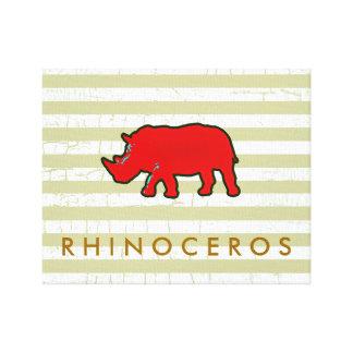 the red rhinoceros canvas print