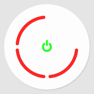 the Red Ring of Death Classic Round Sticker