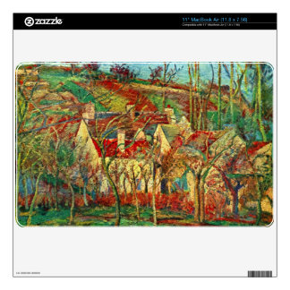The red roofs by Camille Pissarro MacBook Skins