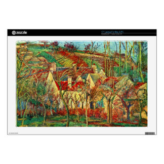 """The red roofs by Camille Pissarro Skin For 17"""" Laptop"""