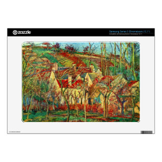 The red roofs by Camille Pissarro Samsung Chromebook Decal