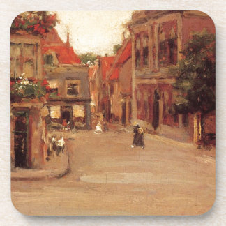 The Red Roofs of Haarlem, aka A Street in Holland Drink Coaster