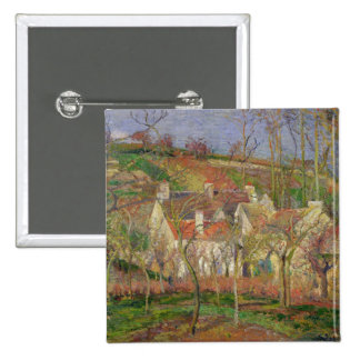 The Red Roofs, or Corner of a Village 2 Inch Square Button