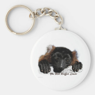The Red Ruffed Lemur Basic Round Button Keychain