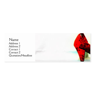 The Red Shoe Profile Card2 Business Card Template