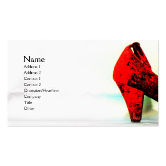 The Red Shoe Profile Card Business Card Templates