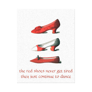 The Red Shoes Art Canvas Print