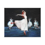 The Red Shoes Stretched Canvas Print