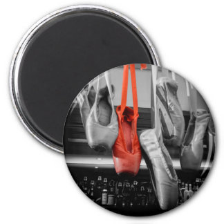 The Red Slipper 2 Inch Round Magnet