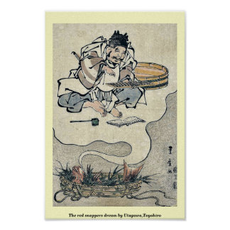 The red snappers dream by Utagawa,Toyohiro Poster