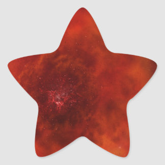 The red space and the vast universe star sticker
