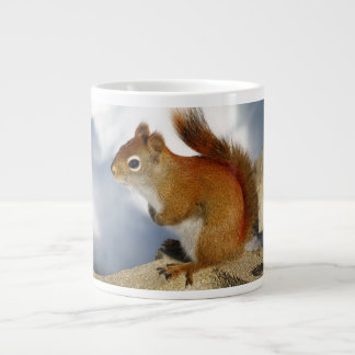 The Red Squirrel Who Stuck Around Large Coffee Mug