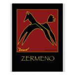 """""""The Red Stallion"""" by Zermeno Poster"""