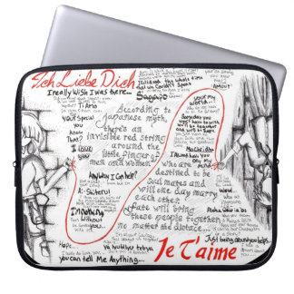 The Red String Part One Laptop Computer Sleeves