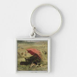 The Red Sunshade, c.1860 Keychain