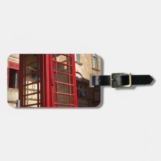 The red Telephonebox Bag Tag
