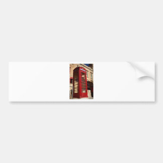 The red Telephonebox Bumper Sticker