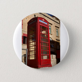 The red Telephonebox Pinback Button