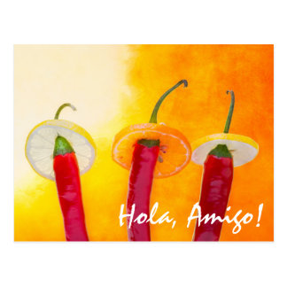 The Red, The Hot, The Chili Postcard