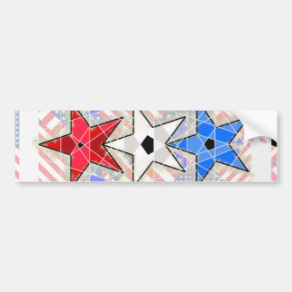 The Red, The White, The Blue,... Stars and Stripes Bumper Sticker