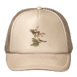 The Red-throated Hummingbird (Trochilus colubris) Trucker Hat