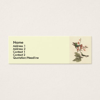 The Red-throated Hummingbird (Trochilus colubris) Mini Business Card