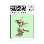 The Red-throated Hummingbird (Trochilus colubris) Postage Stamp