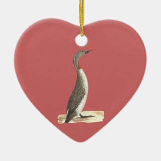 The Red-throated Loon(Colymbus septentrionalis) Ceramic Ornament