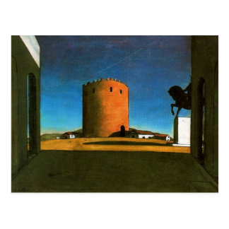 The red tower by Giorgio de Chirico 1913 Postcard