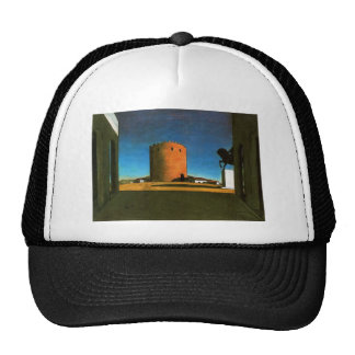 The red tower by Giorgio de Chirico 1913 Trucker Hat