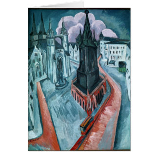 The Red Tower in Halle, 1915 Card