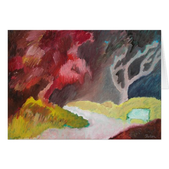 The Red Tree - Card