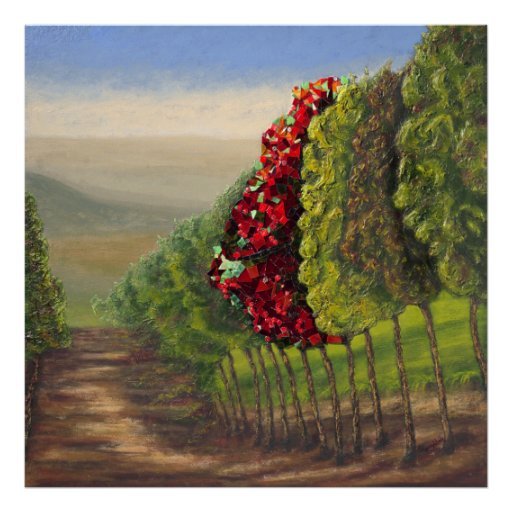 The Red Tree Poster 30x30 inches