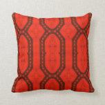 The Red Trifecta Throw Pillows
