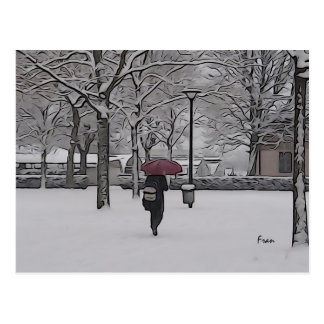 the red umbrella postcard