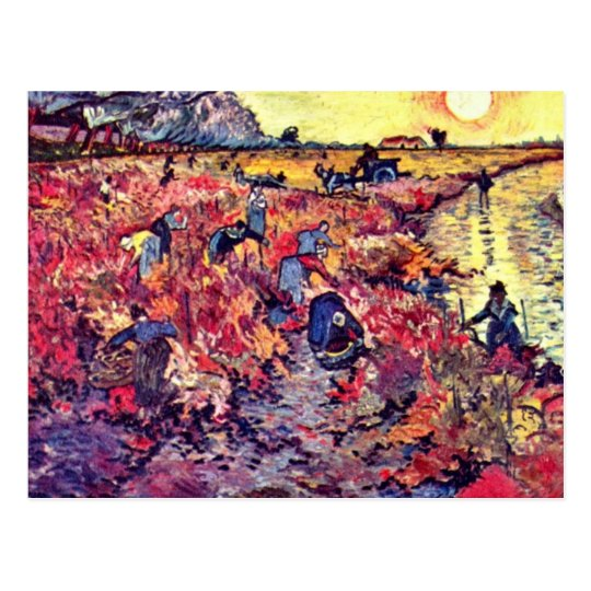 The Red Vines By Vincent Van Gogh Postcard