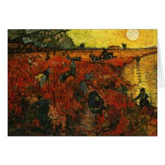 The Red Vineyard at Arles Greeting Card