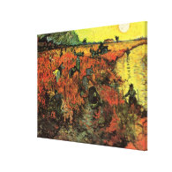 The Red Vineyard by Vincent van Gogh. Gallery Wrap Canvas