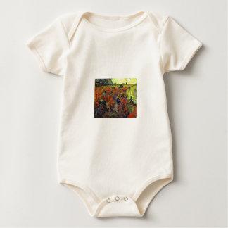 The Red Vinyard by Vincent Van Gogh Baby Bodysuit