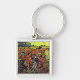The Red Vinyard by Vincent Van Gogh Keychain