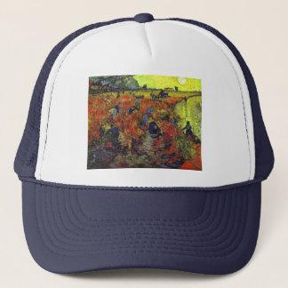 The Red Vinyard by Vincent Van Gogh Trucker Hat
