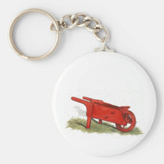 The Red Wheelbarrow Keychain