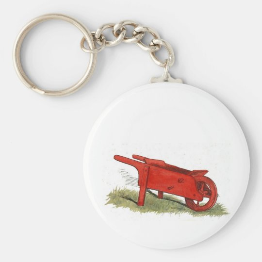The Red Wheelbarrow Keychain